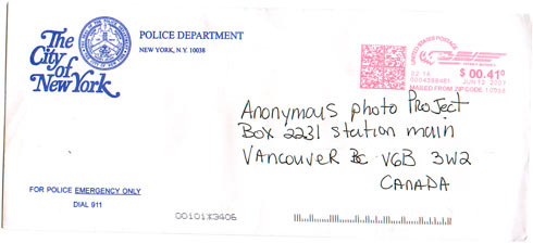 City of New York Police Department - Envelope